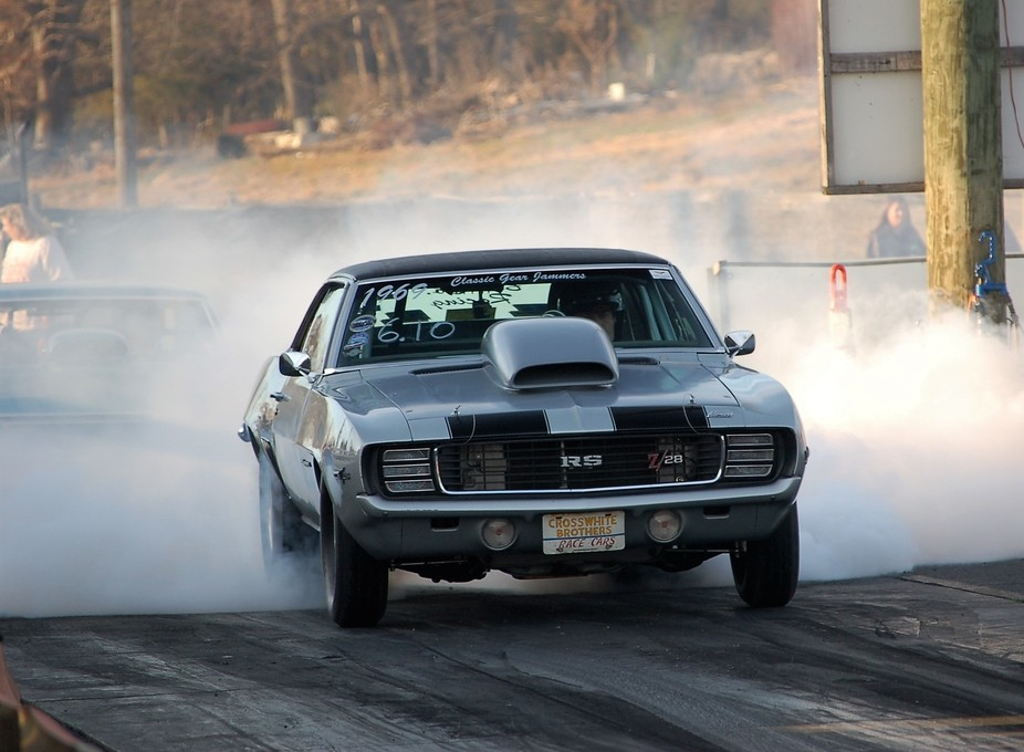 At a recent drag race, this 69 Camero RS was racing in the Classic Gear Jammer Series, and I was ...