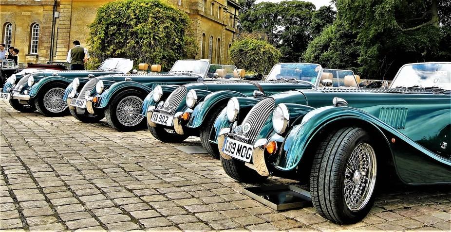 Morgan cars at Blenheim Palace Car Show