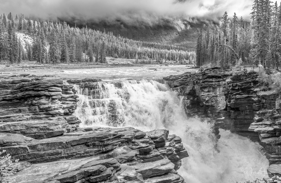Athabaska River Waterfall