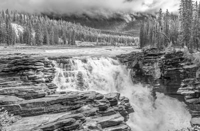 Athabaska River Waterfall