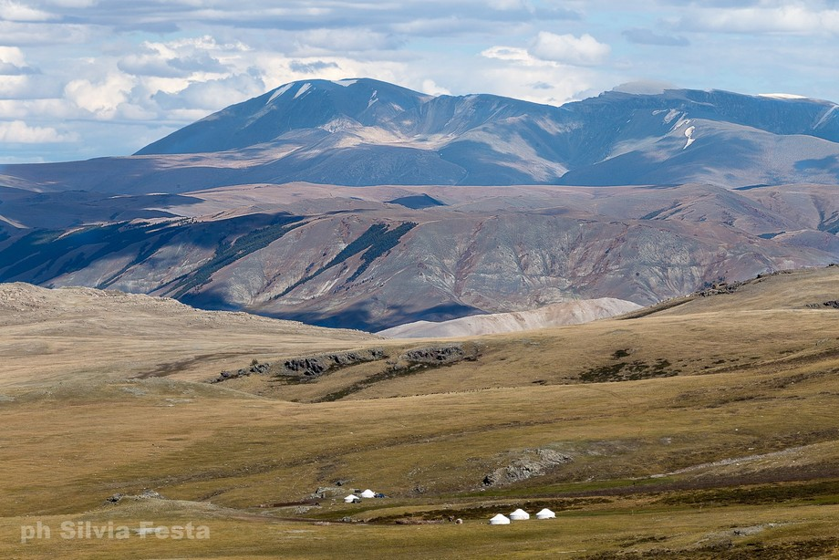 west of Mongolia, nomad tents