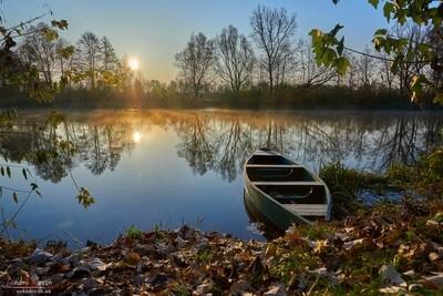 Sunrise on a river
