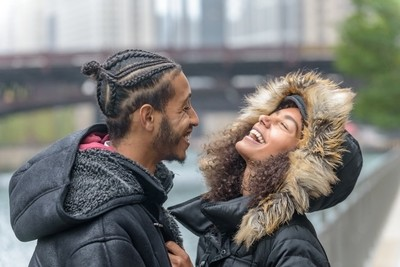 Laughter in cold weather
