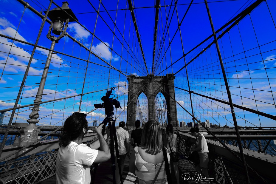 Gone for a portrait shoot. While walking on the Brooklyn Bridge, I suddenly noticed this angle, l...