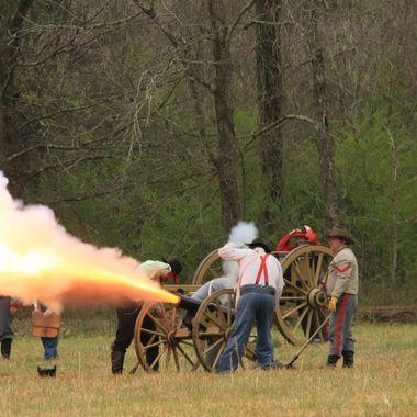 Reenactment of the Siege at Bridgeport Alabama