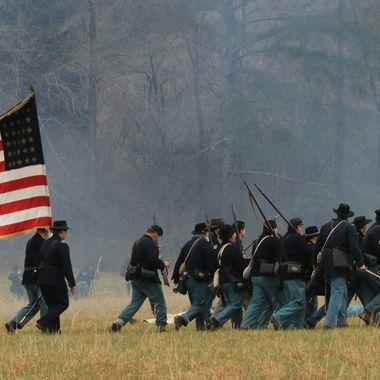 Reenactors at the Siege of Bridgeport  Alabama