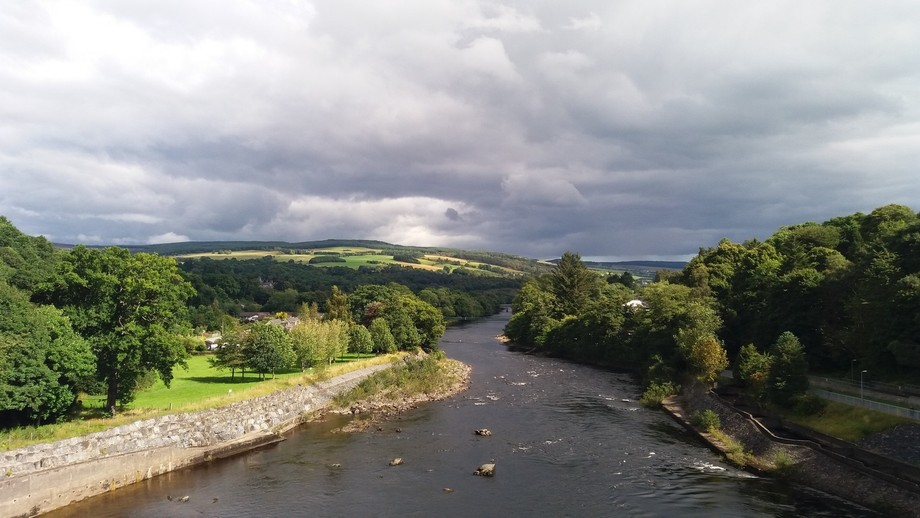 Pitlochry Dam + Fish Ladder   Scotland.
