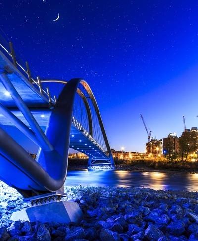 St. Patrick's Island Bridge with Stars