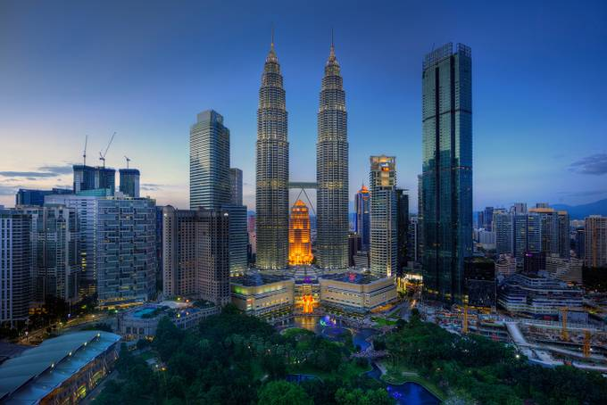 Petronas Towers by Crazy_Krasi - Sunset And The City Photo Contest