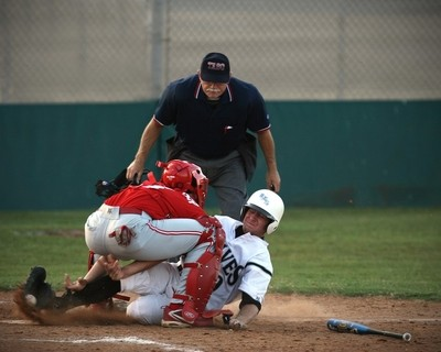 Close call at the plate