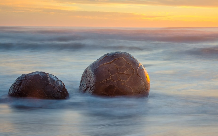 Mystical Moeraki Boulders, Otago Coast, New Zealand