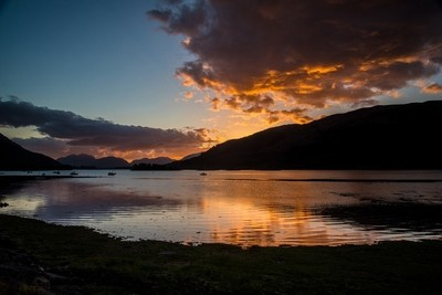 Sunset at Loch Leven.