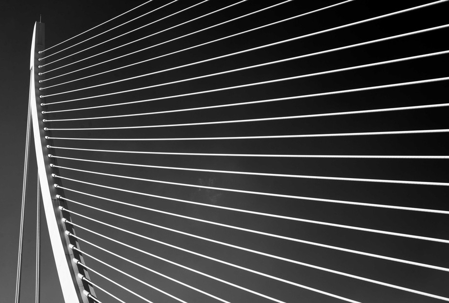 A part of the bridge in the City of arts and sciences in Valencia, Spain