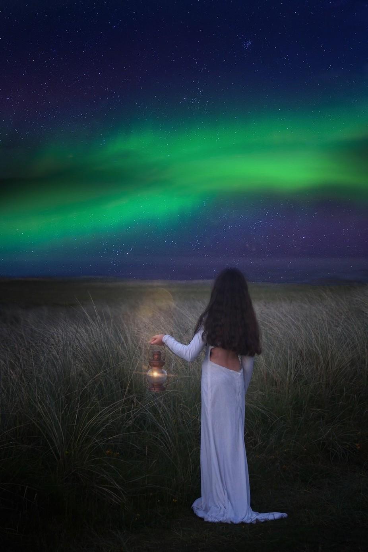 Aurora watching  by avrilglavin - Fantasy In Color Photo Contest
