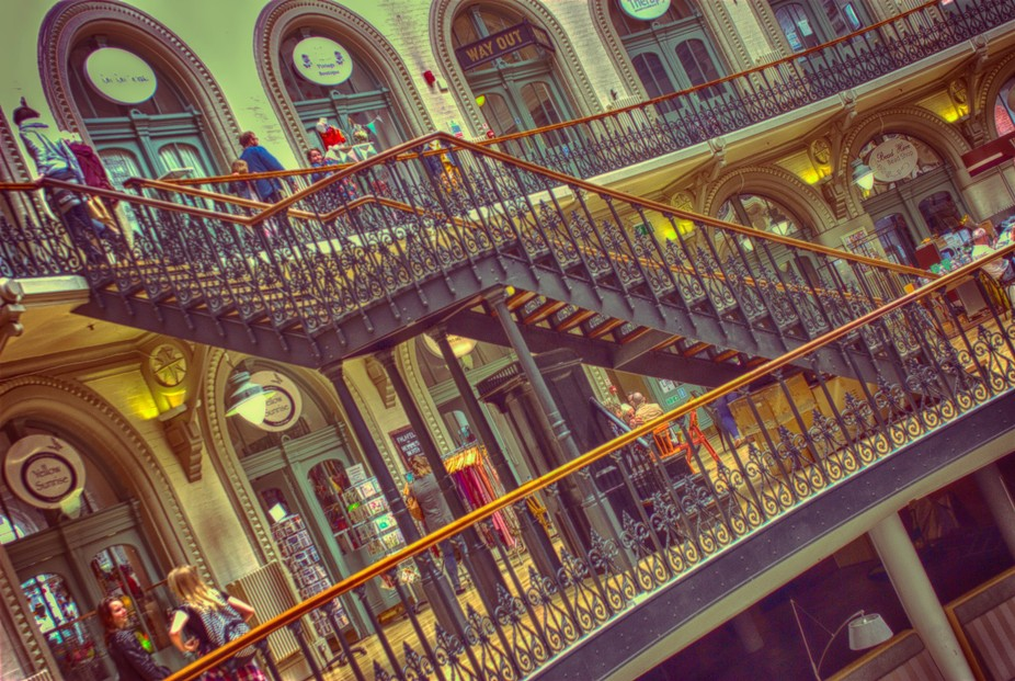 Stairs at Corn Exchange, Leeds