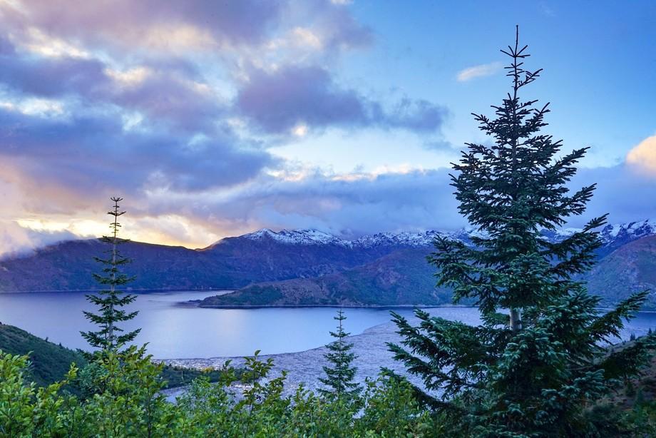 Sunset on Spirit Lake
