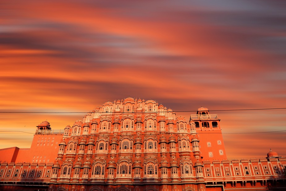 Hawa Mahal is a palace in Jaipur, India. It is constructed of red and pink sandstone. It has 953 ...