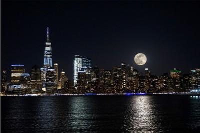 Blue moon NYC