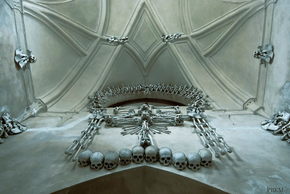 Sedlec Ossuary (Bone Church) in Czech Republic.