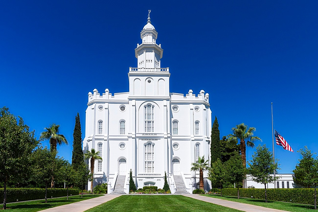LDS Temple, Saint George, Utah.