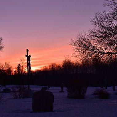 Local cemetery at sunrise Nikon D3400