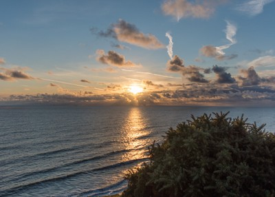 blue sky sunrise