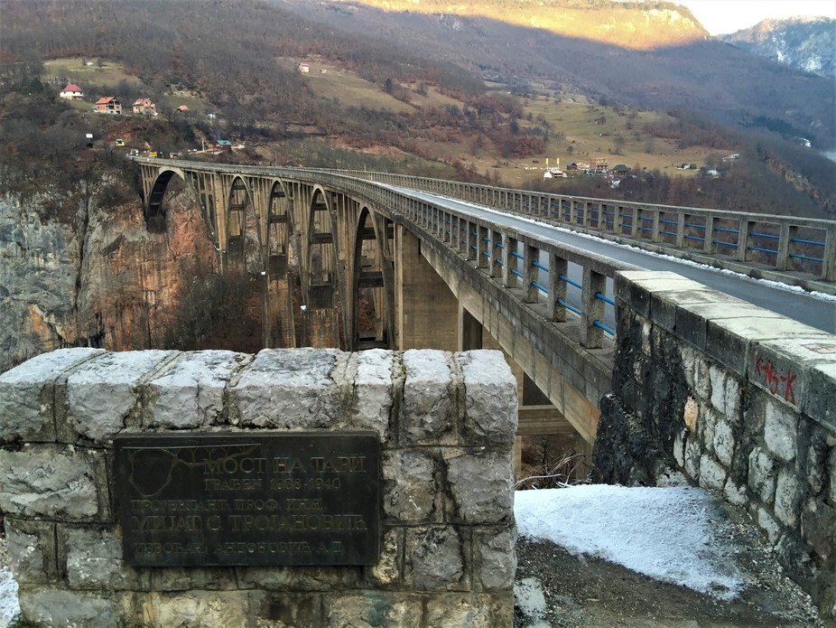 The most famouse bridge in Montenegro and the area, from the last arc.