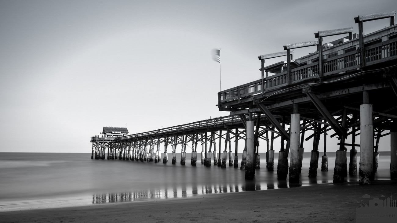 Coast of America-Cocoa Beach Pier-long exposure during sunset