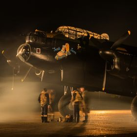 A night shoot at East Kirby and that Lancaster bomber with re-enactors and atmosphere