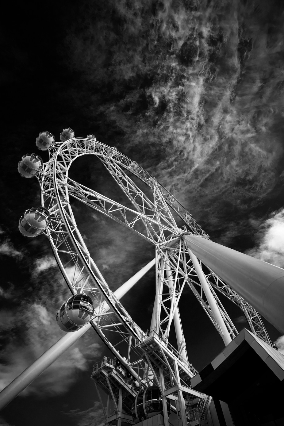 Southern Observation Wheel by 20westphotos - Everything In Black And White Photo Contest