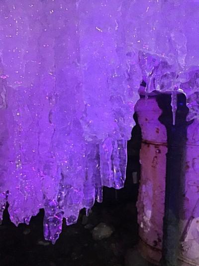 Frozen fountain.