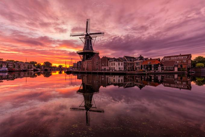 "Sunrise by the mill ""De Adriaan"" by costasganasosphotography - My City Photo Contest"