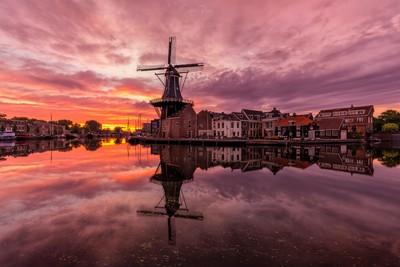 """Sunrise by the mill """"De Adriaan"""""""