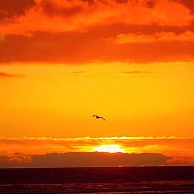 Sunset at Seaside Oregon