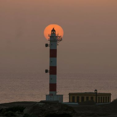 Lighthouse during the sunrise