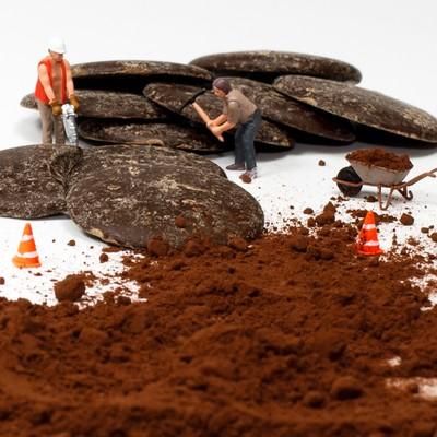 Working hard on the Chocolates