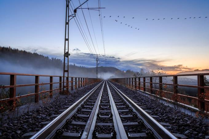 traveling home by geertweggen - Composition And Leading Lines Photo Contest