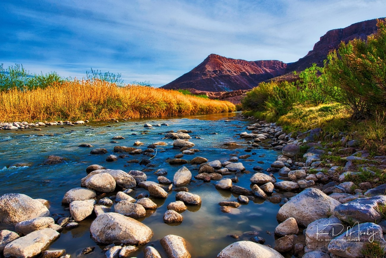 The Rio Grande as it flows through The Big Bend ranch State Park, Texas.