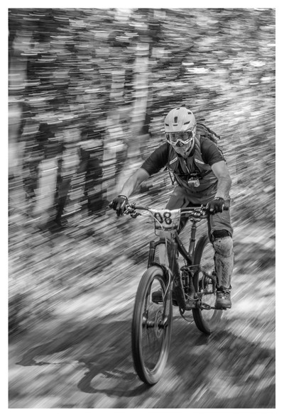 going at speed B&W