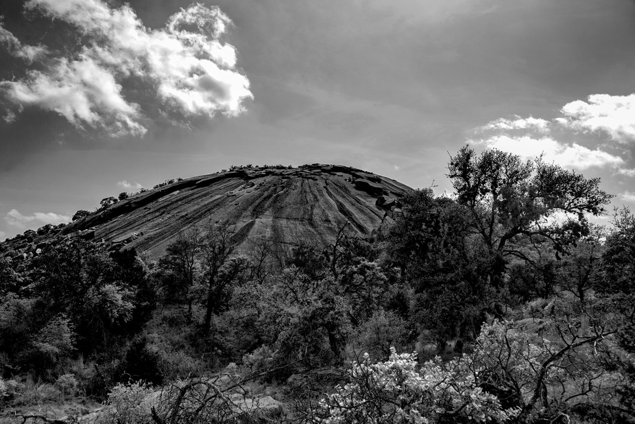 Legend has it to expect the unexpected at Enchanted Rock and the sky certainly was jenky enough.