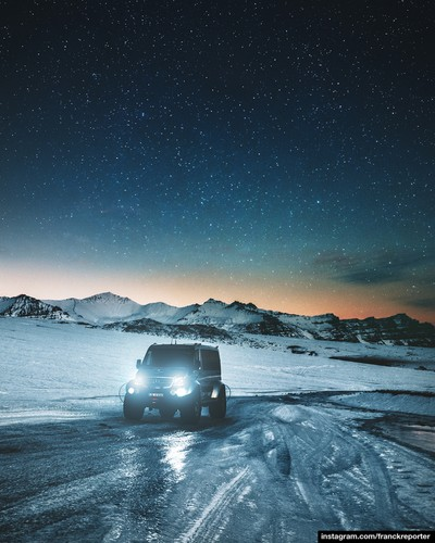 winter suv in iceland