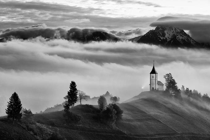 Church by jansieminski - Black And White Landscapes Photo Contest