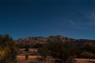 Starry Red Rock Night