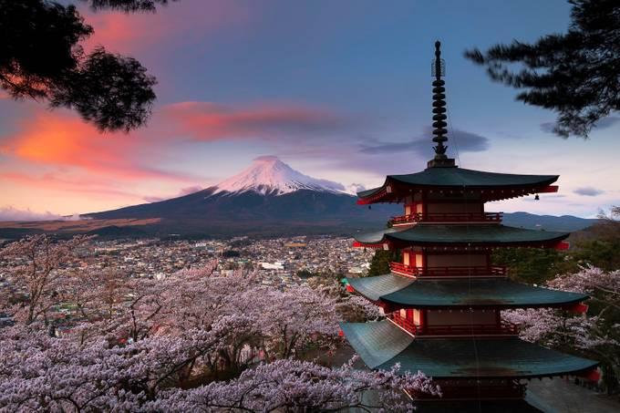 The Chureito Pagoda with view of Mt.Fuji by Manuel_Alvarez - The Magic Of Japan Photo Contest