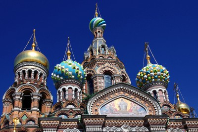 Temple of the Resurrection of Christ Saved on the blood, Saint Petersburg. Domes Of The Temple. Photo 10.