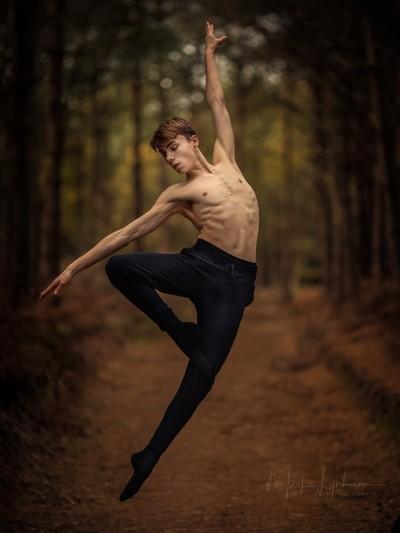 Dancing in the woods