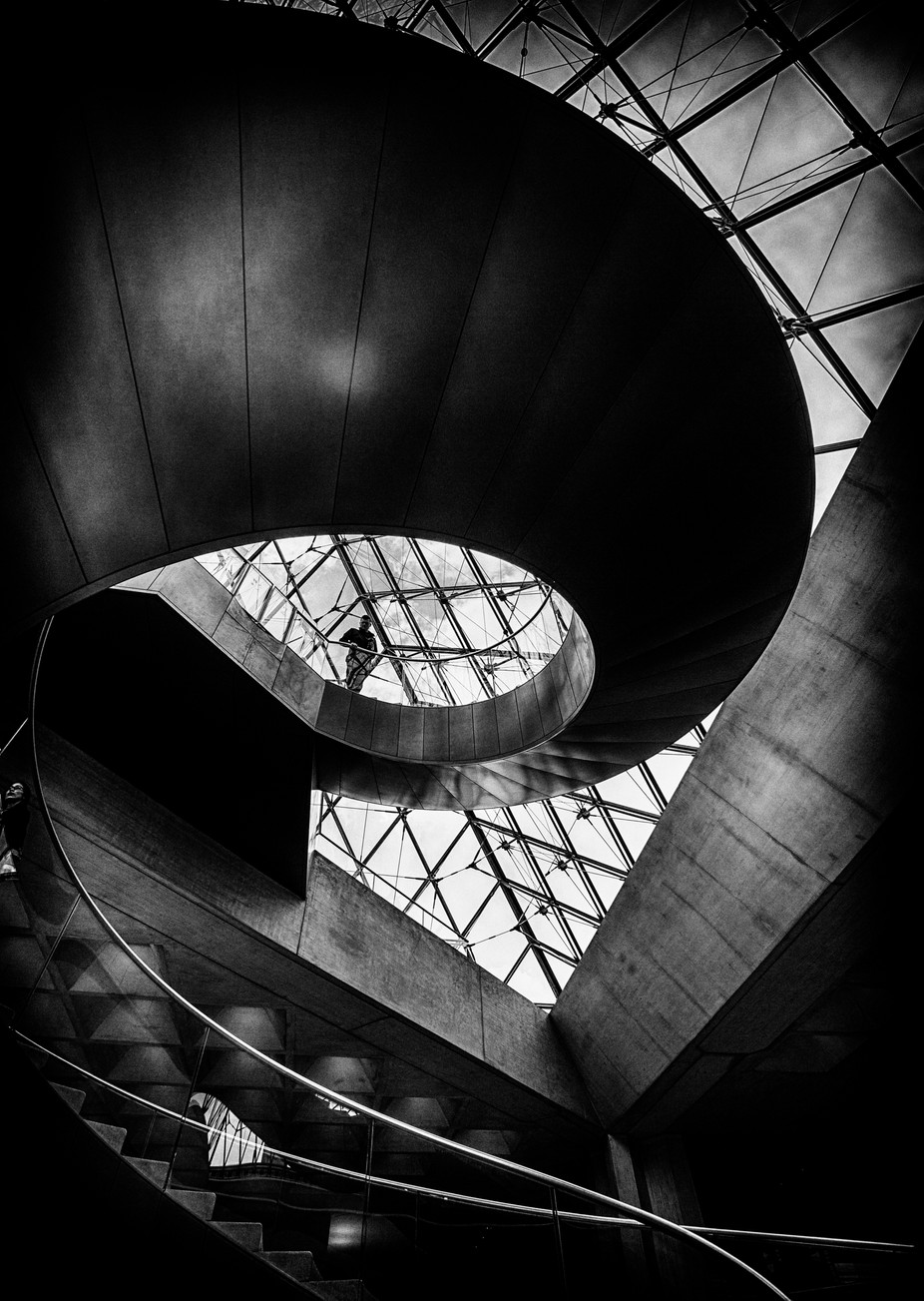 On the stairs by ChristerW - Spirals And Composition Photo Contest