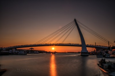 sunset at Tamsui