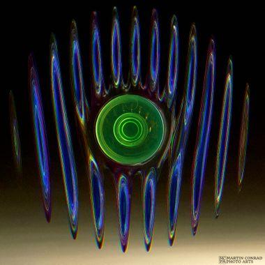 Spinning spinner captured on a scanner