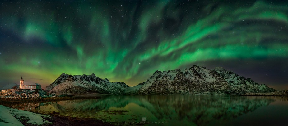 This panoramic photo is definitely one of the most beautiful photos from my tour to the Lofoten I...